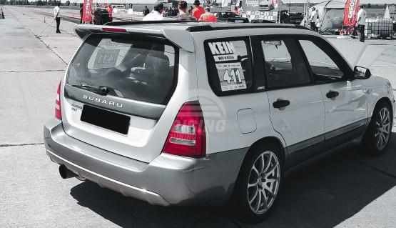 Spoiler STi BIG with stop light for Subaru Forester SG 2002 - 2008