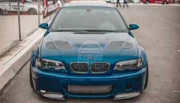Bonnet gills Vorsteiner style hood air intake vents covers for BMW M3 GTR e46 e34 e39 e60