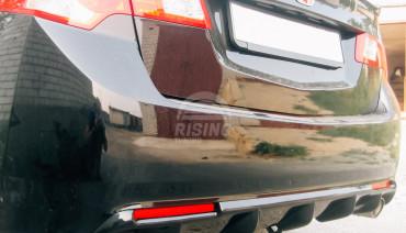Bumper diffuser Ver.3 with reflectors holes for Honda Accord 8 / Acura TSX CU2 2008 - 2013