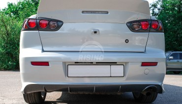 Rear stop light covers (eyelids) for Mitsubishi Lancer X 2007 - 2017