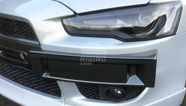 Front Number Plate Surrounds Holder Frame For MITSUBISHI Lancer X / EVO Style / ABS Plastic