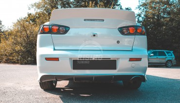 ZODIAK rear bumper lip cover for Mitshubishi Lancer 2007-2017