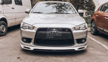Zodiak front bumper lip diffuser for Mitshubishi Lancer X 2012 - 2015