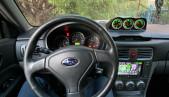 Gauge Pod for Subaru Forester SG S11, Textured version, center dash console Defi housing diameter 52mm 2002-2008