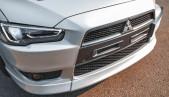 Evo style nose overlay for Mitsubishi Lancer X 2007 - 2010