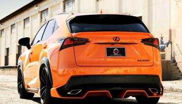 Artisan Spirits Black Label rear middle trunk spoiler for Lexus NX 2014 - 2017