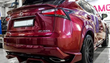 Artisan Spirits Black Label rear middle trunk spoiler for Lexus NX 2014 - 2017
