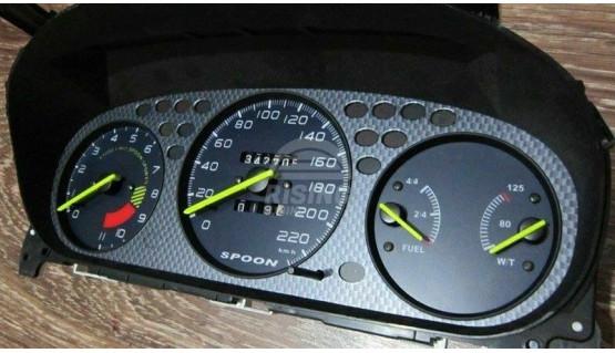 Gauge Faces Spoon style for Honda Civic Ek VTI Si