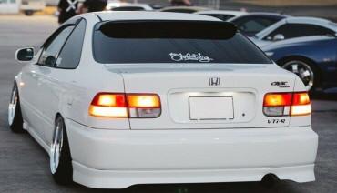 Rear VTI Lip for Honda Civic Coupe Si Ek 99-00 Diffuser Pad splitter body kit