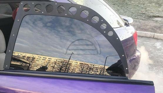 Rear Window Vents for Subaru Impreza Wagon GG 01-07 Mesh Plastic 2pcs Pair Sti
