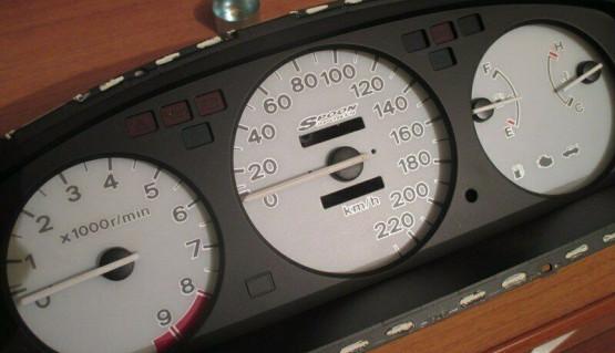 Gauge Faces Spoon style for Honda Civic EG EJ 91-95 Instrument Cluster Dashboard