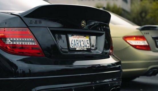 Ducktail for Mercedes-Benz C W204 rear boot trunk spoiler lip wing duckbill AMG