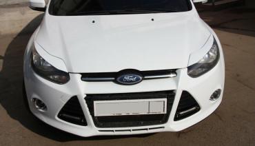 Eyelids eyebrows for Ford Focus III 3 2010-2014 Headlights Covers eyelash
