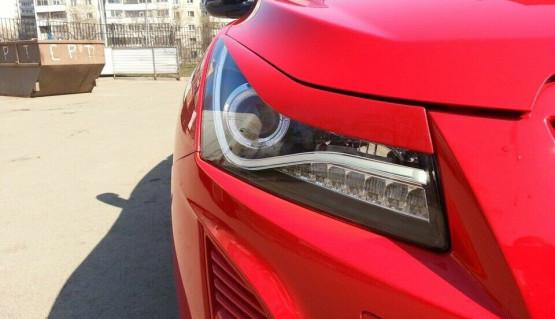 Eyelids eyebrows for Chevrolet Cruze 2009-2015 Headlights Covers Cilia eye brow
