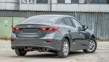 Rear Diffuser for Mazda 3 BM / Axela 13-19 Pad Lip rear splitter spoiler