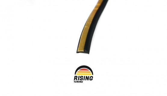 Rubber welting T-type trim gasket fender flares black 3.5m 11.5ft for pair