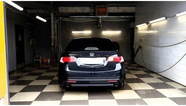 Rear Diffuser Mugen for Honda Accord 8 / Acura TSX CU 2008-2013 Pad Rear Lip