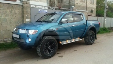 Fender flares for Mitsubishi L200 Warrior Triton 05-15 Arch Extenders Extensions