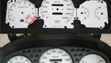 Gauge Faces Mugen style for Honda Civic Ek VTI Si Instrument Cluster Dashboard