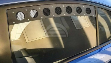 Rear Window Vents for Subaru Impreza WRX STi 15-20 Mesh Plastic 2pcs Pair VA GJ