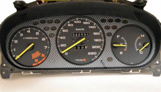 Gauge Faces Type-R style for Honda Civic Ek 96-00