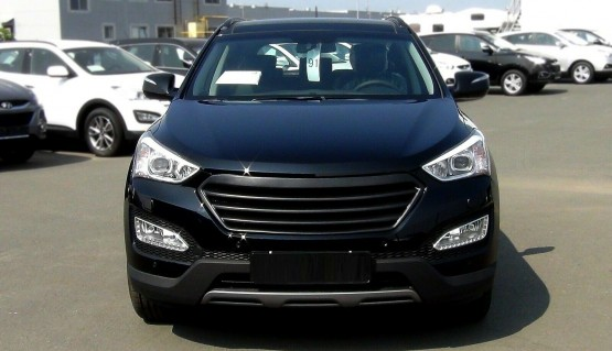 Front grill for Hyundai Santa Fe DM 12-16 Mesh Front Radiator Hood Grille Tuning
