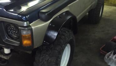 Fender flares for Nissan Patrol Safari 87-97 Y60 Wheel Arch Extenders Extensions
