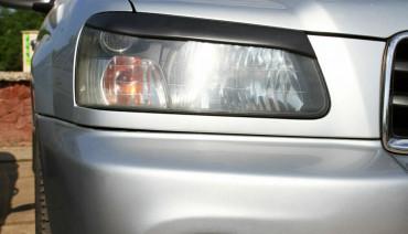 Eyelids eyebrows for Subaru Forester SG 2002 - 2005 Headlights Covers Eyelashes