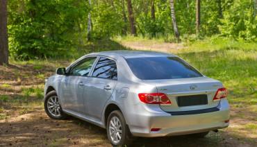 Rear bumper trim for Toyota Corolla 2010-2013 E150 plate sill protector cover