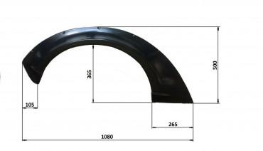 Universal JDM Fender Flares Wave 3.2 inch(80mm) 2pcs ABS Plastic