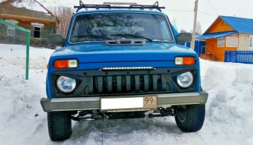 Front grill for Lada Niva Angry bad boy style tuning sport grille