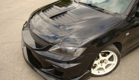 Eyelids eyebrows for Mitsubishi Lancer IX 9 EVO style