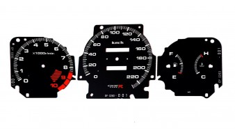Gauge Faces Type-R style for Honda Civic Ek VTI Si