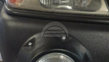 Front Fog Light Cover Frame 5 3/4in. 145mm for Mitsubishi Pajero Montero Sport