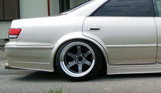 N-style Type-2 Rear Fender Flares 2 inches 50mm 2pcs Universal JDM ABS Plastic