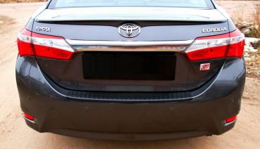 Rear bumper trim for Toyota Corolla 2012-2016 E180