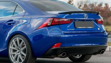 Ducktail spoiler for Lexus IS 3-gen XE30 2013-2020 rear boot trunk lip wing