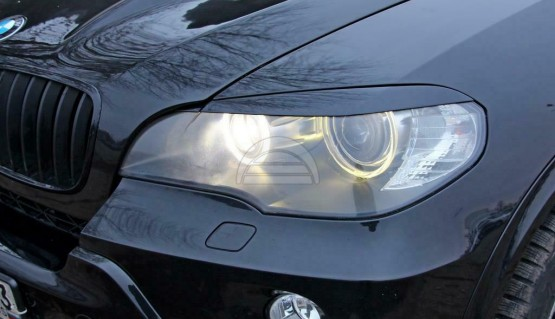 Eyelids eyebrows for BMW X5 e70 2006 - 2013 Headlights cover eyelash