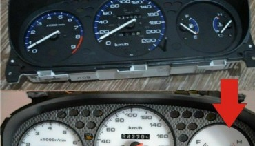 Gauge Faces Mugen style for Honda Civic Ek 96-00