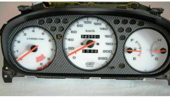 Gauge Faces Mugen style for Honda Civic Ek 96-00