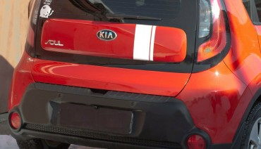 Rear bumper trim for KIA Soul 2014-2016 plate sill protector cover