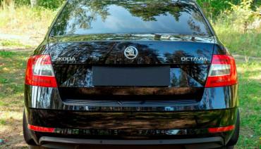 Rear bumper trim for Skoda Octavia A7 2017-2020 plate sill protector cover