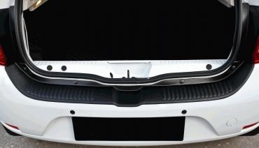 Rear bumper trim for Renault Sandero 2gen 2012-2019 plate sill protector cover