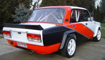 Rear boot lip spoiler 'VFTS' for LADA Riva Nova 2105 2107 Vaz Sport Rally vihur