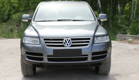 Eyelids eyebrows for Volkswagen Touareg 2002 - 2006 Headlights cover eyelash