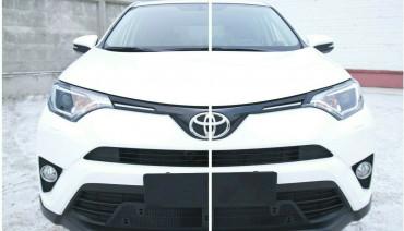 Eyelids eyebrows for Toyota RAV4 2015 - 2019 Headlights Cover eyelash