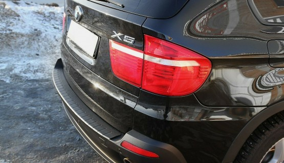 Rear bumper trim for BMW X5 e70 10-13 plate sill protector cover