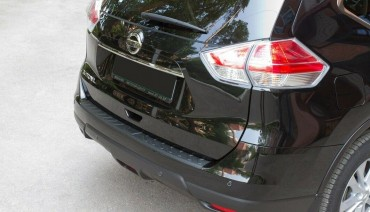 Rear bumper trim for Nissan X-Trail 2013-2019 plate sill protector cover