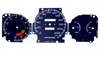 Gauge Faces Spoon style for Honda Civic Ek 96-00 Instrument Cluster Dashboard
