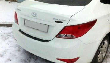 Rear bumper trim for Hyundai Accent Verna i25 10-14 plate sill protector cover